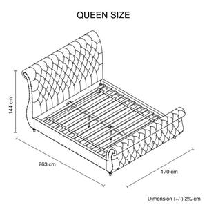 Queen Bed Frame Upholstery Velvet Fabric