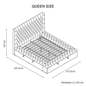 Queen Size Bedframe Velvet Upholstery De