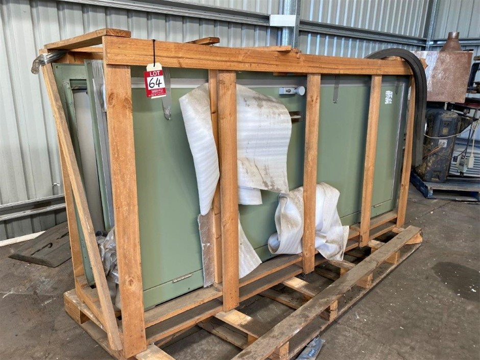 Security Doors Steel and Aluminium Construction in Timber Crate