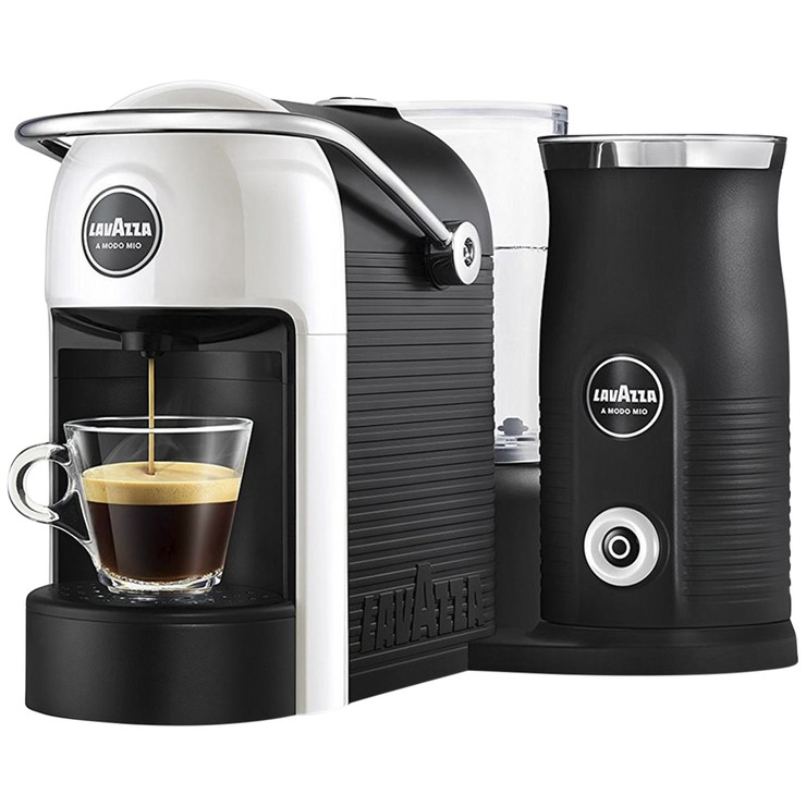 LAVAZZA Jolie Coffee Machine w/ Milk Easy Frother, White. N.B. Minor use &