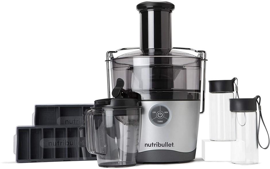 NUTRIBULLET Juicer Pro Centrifugal Juicer Machine, 1.5L, Silver, NBJ50200.