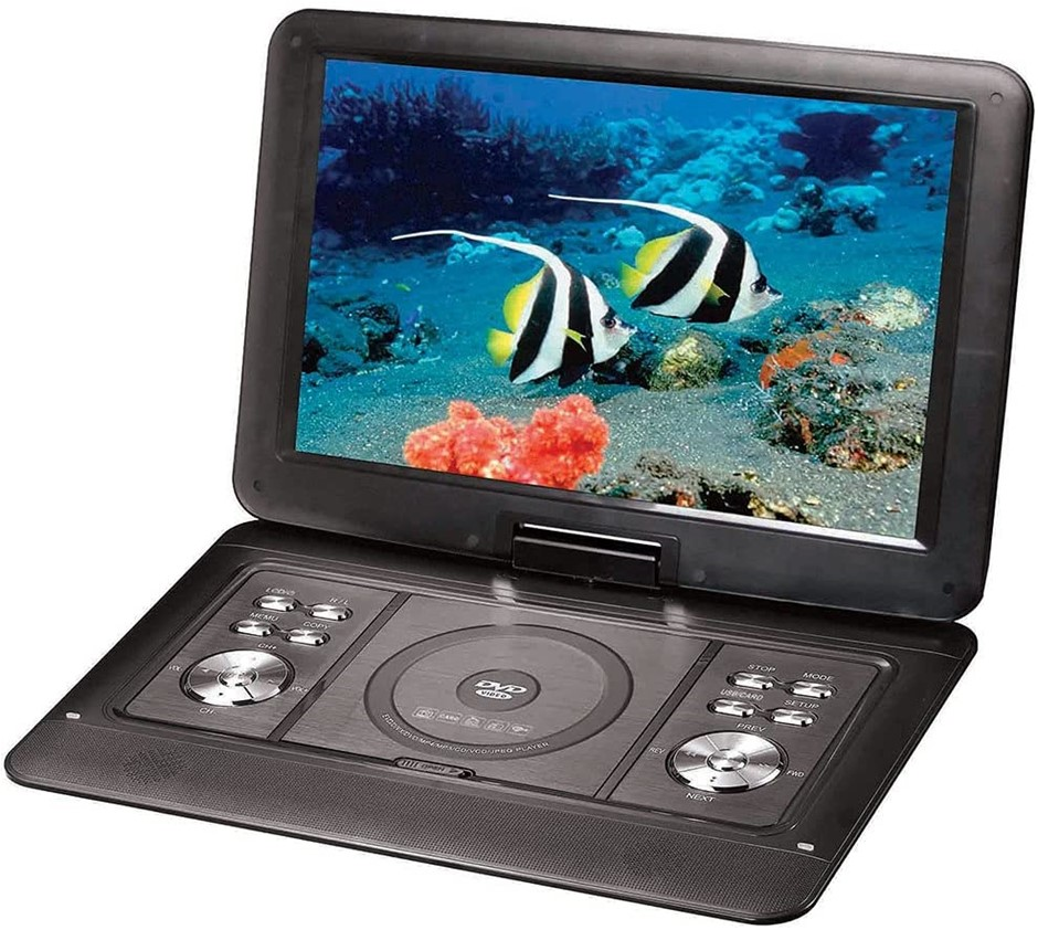 """LENOXX 15.4"""" Swivel Portable DVD Player. NB: Minor Use. Buyers Note - Disco"""