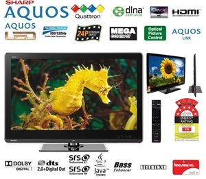 Sharp 52 inch Quattron LED LCD TV  Model: LC52LE820X  ORP: $2,999