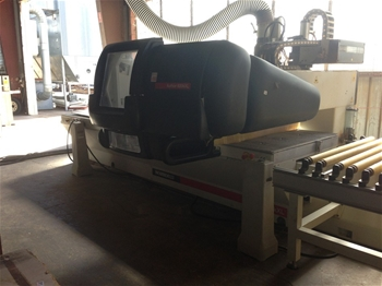 Edge Bander, Holzher Model 1403 Features: end cut saw, hot me