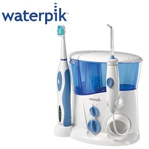buy waterpik wp 900 complete care water flosser sonic toothbrush graysonl. Black Bedroom Furniture Sets. Home Design Ideas