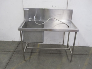 Stainless steel free standing deep well sink unit Auction (0001 ...