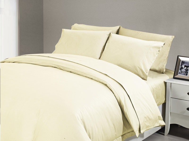 1200 TC Flat Sheet Double Ivory