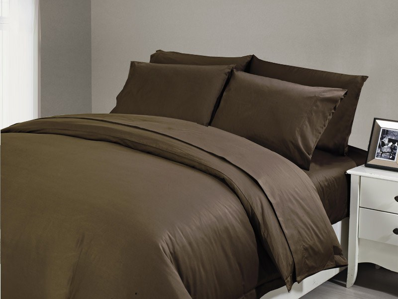 1200 TC Flat Sheet King Chocolate