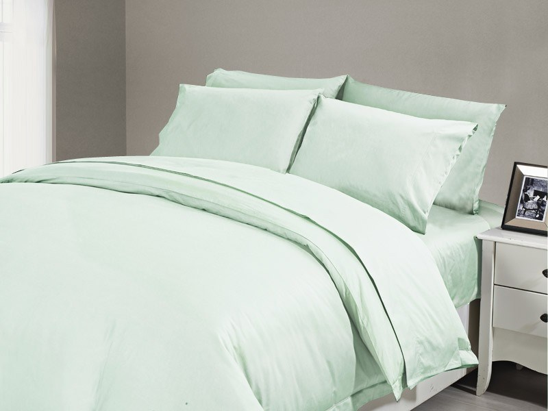 1200 TC Flat Sheet King Minty
