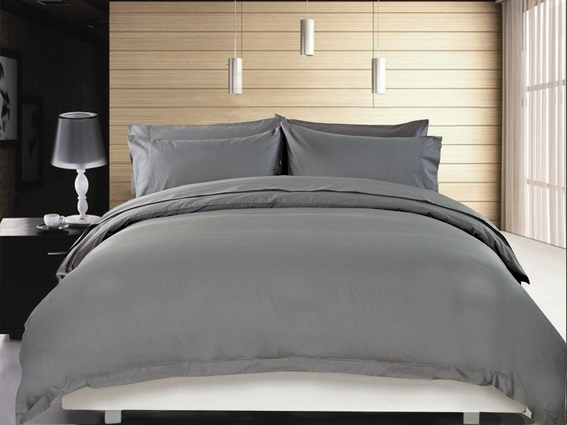 Royal 1200 Thread Count Egyptian Cotton Quilt Cover Charcoal - King Size