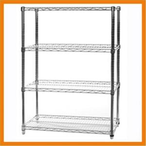 Chrome Wire Shelving Unit With 4 Shelves 120 X 35 X 90 Auction 0004 7116113 Graysonline
