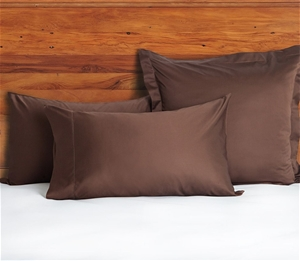 1200 TC European Pillow Cases Chocolate
