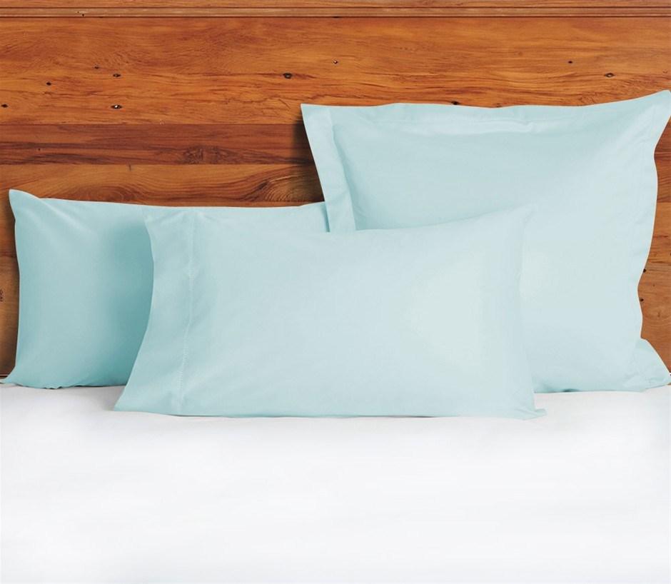 1200 TC European Pillow Cases Duck Egg Blue x 2