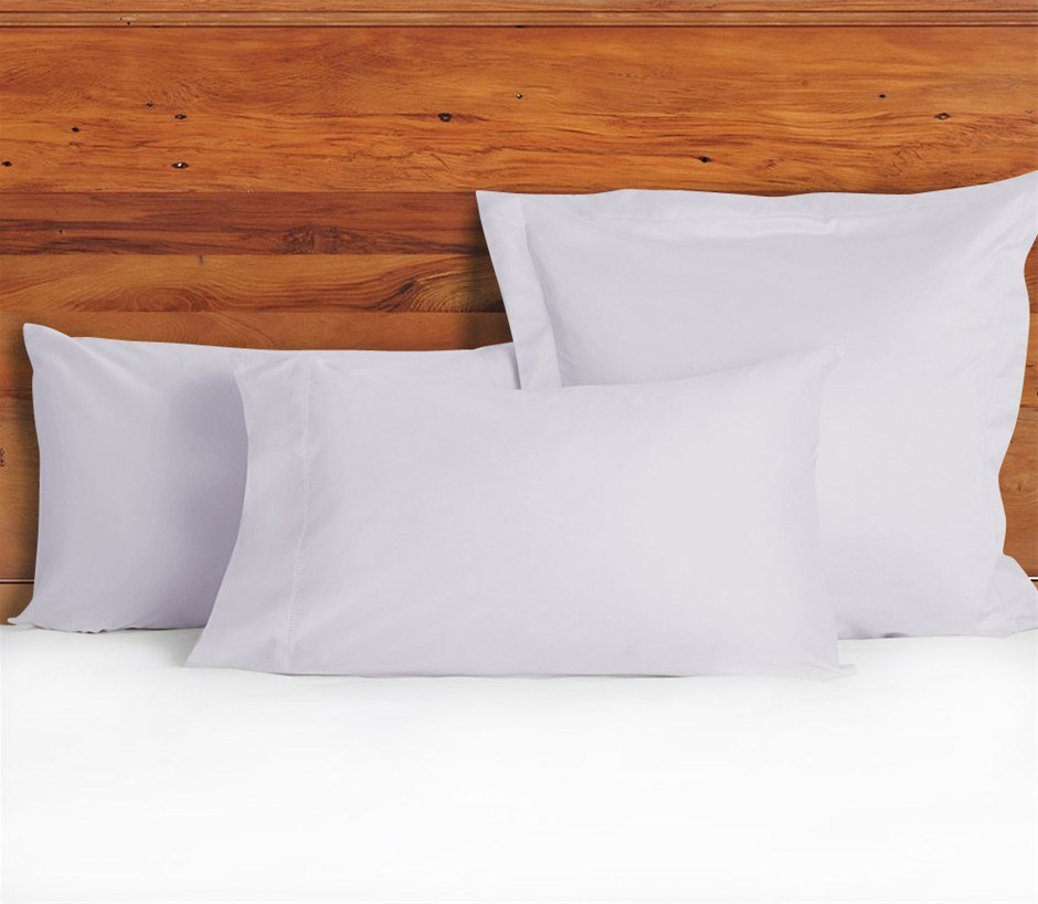 1200 TC European Pillow Cases Lilac Mist x 2