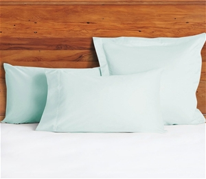 1200 TC Pillow Cases Minty x 2