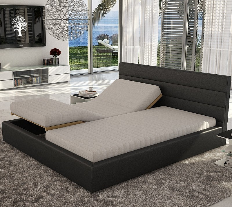 Linea Electric Adjustable Sleep System with Latex Mattresses, Black