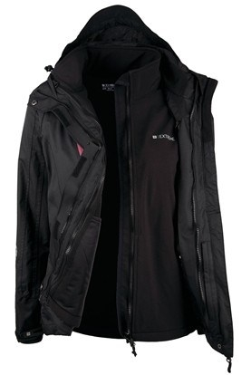 Mountain Warehouse Bracken Womens 3 in 1 Waterproof Rain Jacket