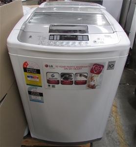 lg direct drive inverter top load washing machine capacity model wt auction 0027. Black Bedroom Furniture Sets. Home Design Ideas