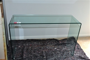 Hall Table Console One Piece Bent Glas