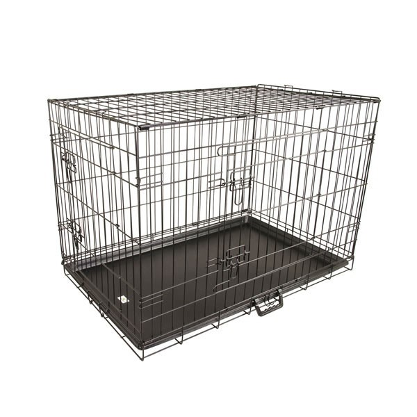 "36"" Large Collapsible 2 Door Metal Wire Dog Crate"