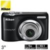 Nikon Coolpix L25 10.1MP Digital Camera - Black (New)
