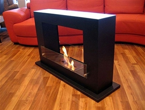 Gloss Black Luxco Bio Ethanol Fireplace Free Standing Portable Box Auction 0003 2086595 Grays Australia