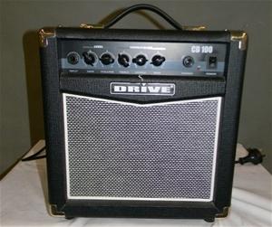 electric guitar amplifier drive cd100 10 watts rms 240 volt 50hz not auction 0124. Black Bedroom Furniture Sets. Home Design Ideas