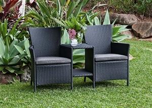 Ebony Wicker Jack Jill Chair S 1 4 X0