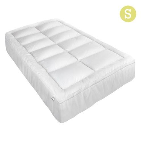 Giselle Single Mattress Topper Pillowtop 1000GSM Microfibre Filling