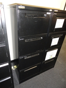 Filing Cabinets 4 Drawer Black Metal