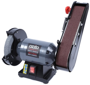 Ozito 150mm Bench Grinder With Belt Sander Attachment