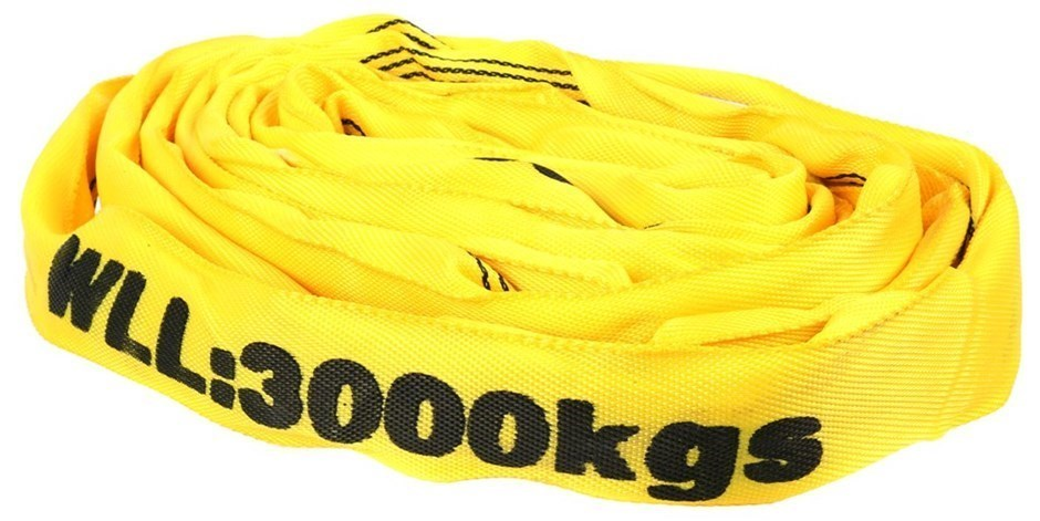 Round Lifting Sling, WLL 3,000kg x 3M (With Test Cert). Buyers Note - Disco
