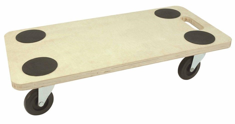 Birch Plywood Movers Dolly, 200kg Capacity, 550mm x 300mm c/w Corner Pads.