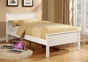 Buy Jessy Kid Children Adult King Single Size White Wooden Bed Frame