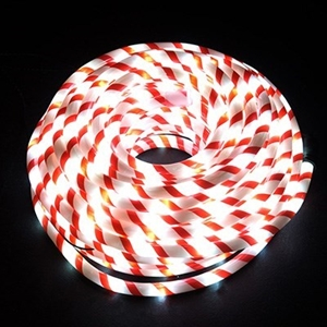 Buy 20m candy cane white led christmas rope lights graysonline 20m candy cane white led christmas rope lights aloadofball Image collections