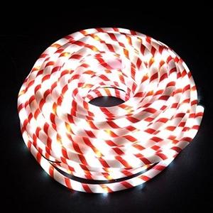 Buy 20m candy cane white led christmas rope lights graysonline 20m candy cane white led christmas rope lights aloadofball Images