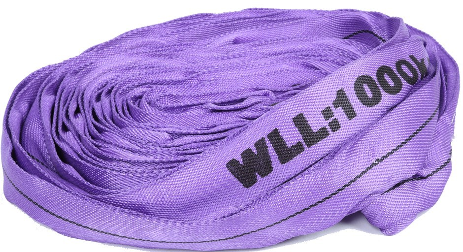 Round Lifting Sling, WLL 1,000kg x 6M (With Test Cert). Buyers Note - Disco