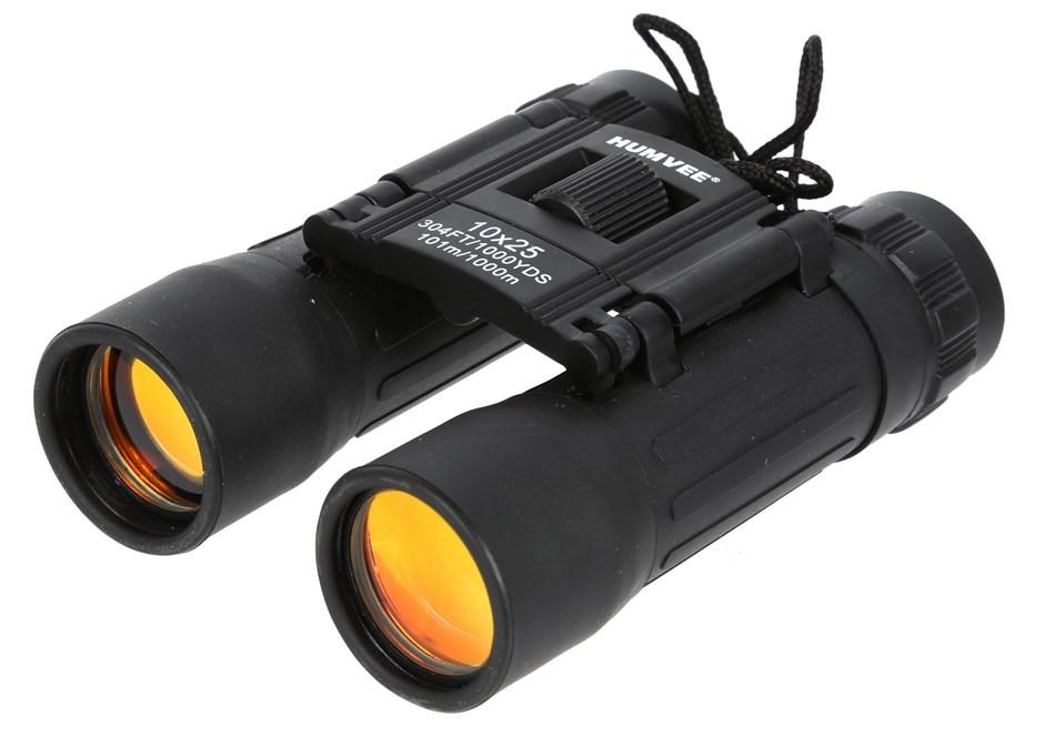 HUMVEE Compact Binoculars 10x25, Black. Buyers Note - Discount Freight Rate