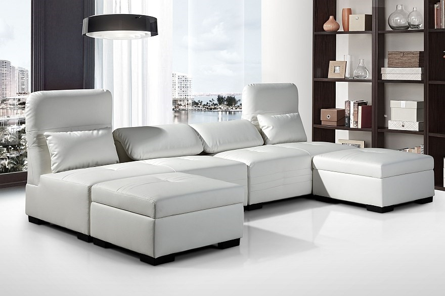 Ritmo multi-function lounge set, White