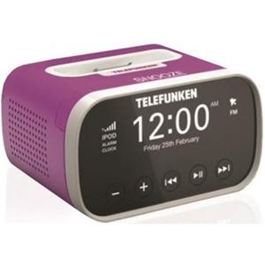 Telefunken The junior Alarm Clock Radio with iPod Dock (Purple)