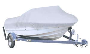 Boat Cover 20 to 22ft, Silver Polyester,