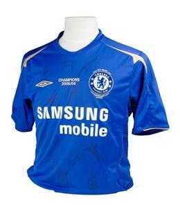 buy popular 0f99f 4c225 CHELSEA FC 2005-06 CENTURY PREMIERSHIP WINNING JERSEY SIGNED BY 15