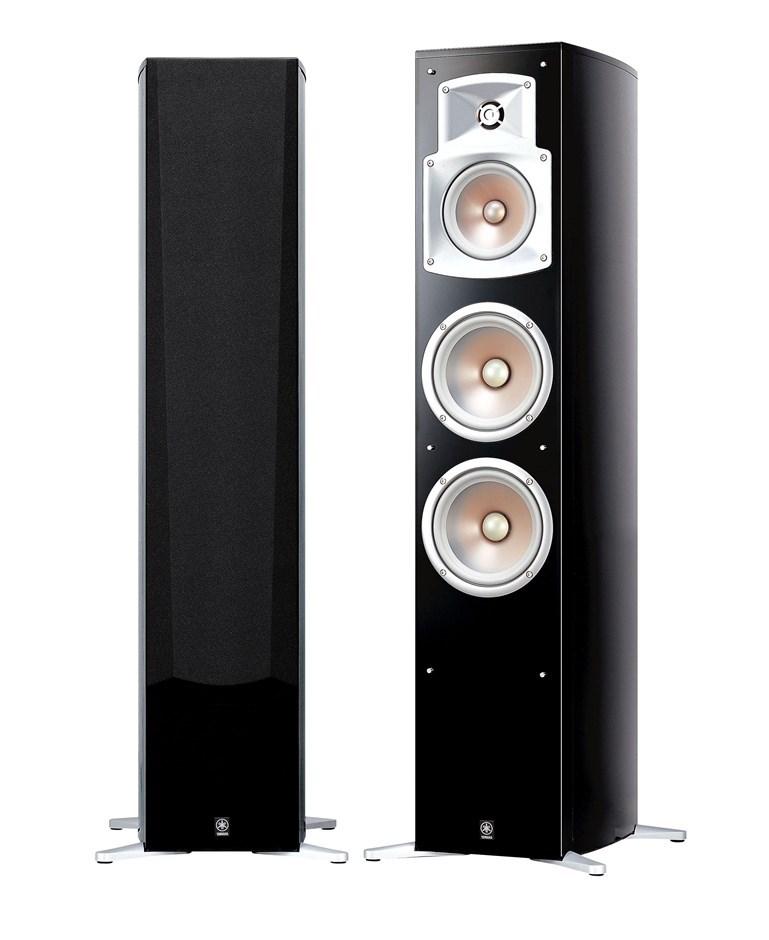 Yamaha NS-555 3-Way Bass-Reflex Tower Speakers (Piano Black) (Pair)