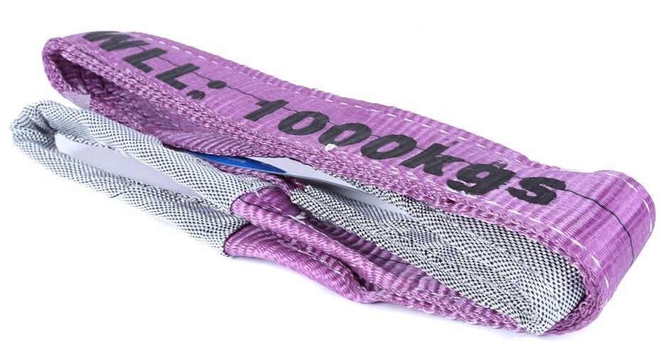 4 x Flat Webb Lifting Slings, WLL 1,000kg x 1M (With Test Cert). Buyers Not