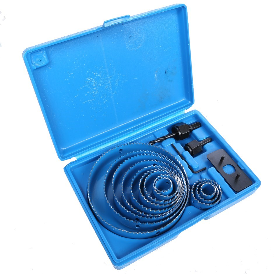 BERENT 16pc Hole Saw Kit, Sizes: 19, 22, 32, 38, 44, 51, 64, 76, 89, 102, 1