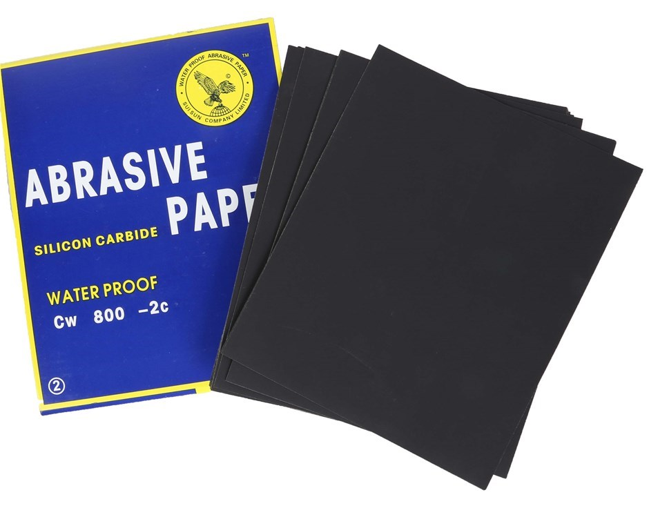 100 x Sheets Abrasive Paper, Water Proof Silicon Carbon Grit 800, Sheet Siz