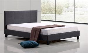 Queen Linen Fabric Bed Frame - Grey