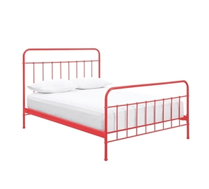 new style 88801 214c1 Buy Designer Jessica King Single Size Red Metal Bed Frame ...