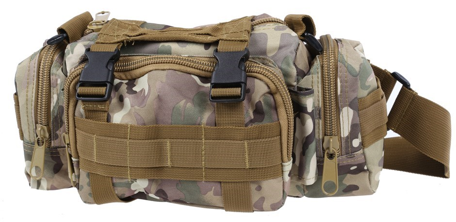 Canvass Utility Field Bag, 32cm c/w 4 x Zip Compartments & Shoulder Strap,