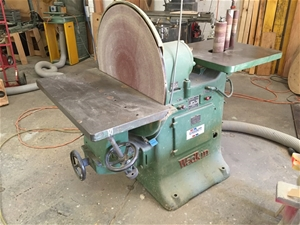 Wadkin disc and bobbin sander auction 0005 5014750 for 10 inch sanding disc table saw